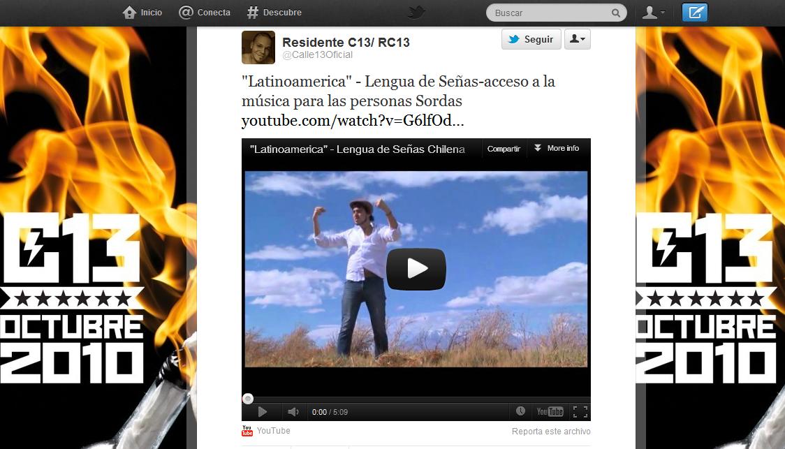 Calle13 Tweet