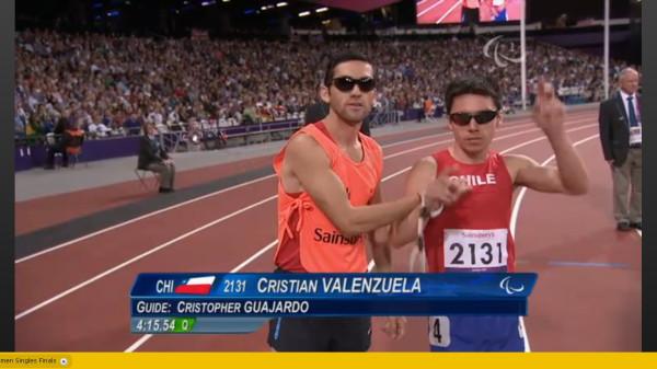 Cristian Valenzuela en la final de los 1500 metros T11 / Crédito @DanielFigueroaP
