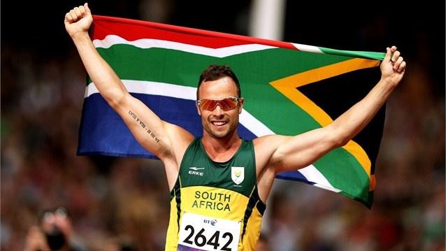 Oscar Pistorius tras ganar la final de los 400m T44 - Crédito: www.london2012.com