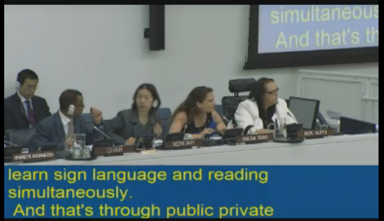 Ximena Rivas en ONU - Captura de UN Webcast