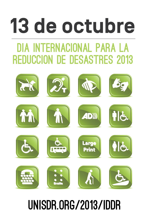 Afiche del Día Internacional de las Naciones Unidas para la Reducción de Desastres 2013