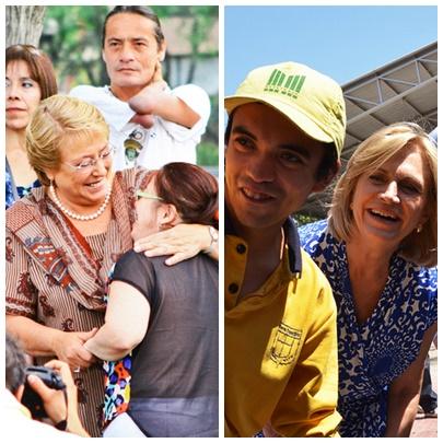 Candidatas con jóvenes con discapacidad.