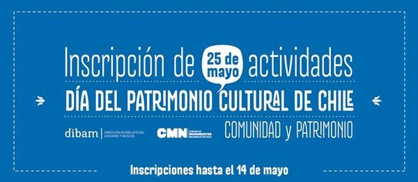 Banner del Día del Patrimonio Cultural 2014 / Fuente: Consejo de Monumentos Nacionales.
