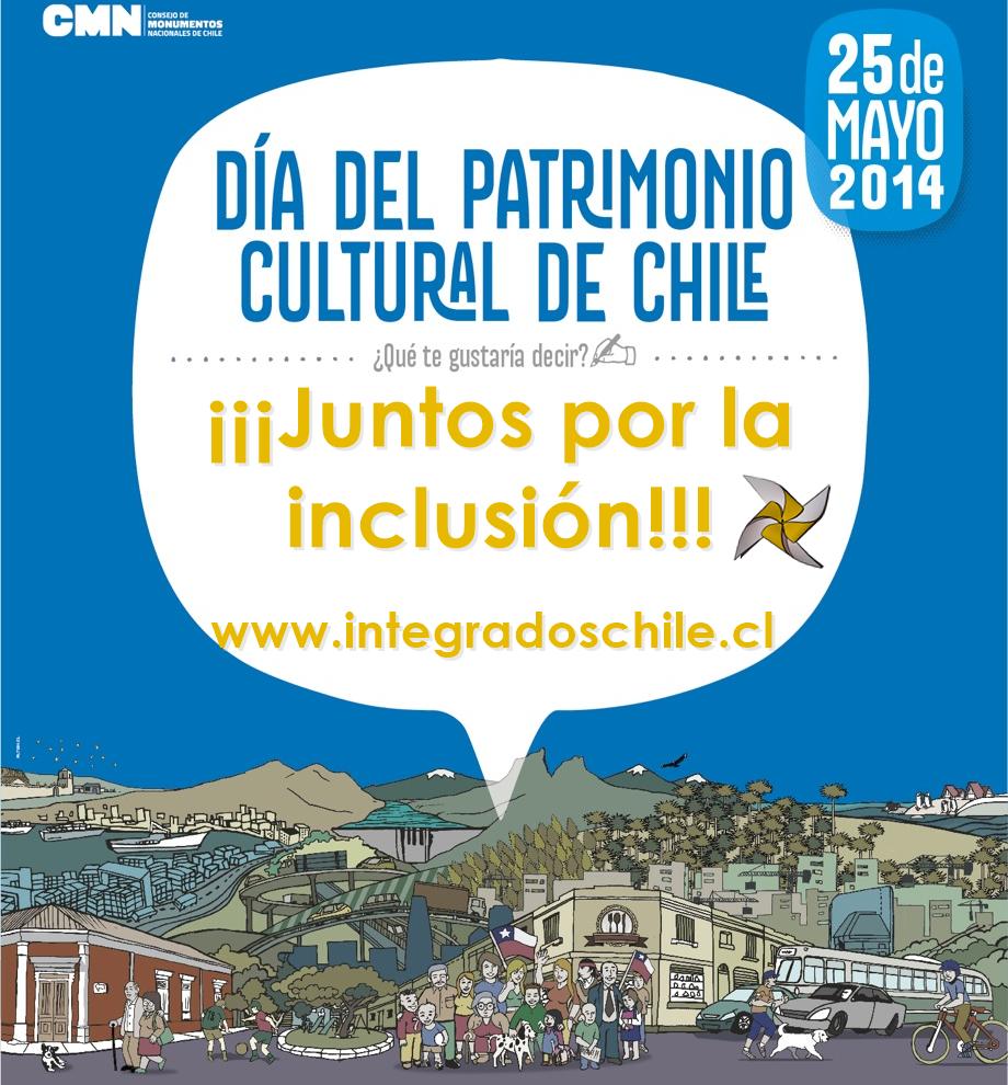 Afiche Día del Patrimonio Cultural 2014 Integrados Chile