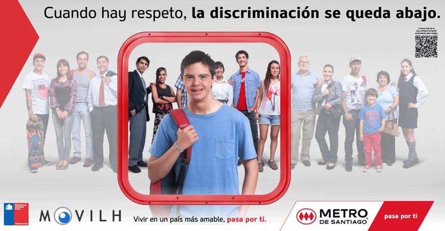 Letrero de campaña de Metro con joven con síndrome de Down / Fuente: Metro