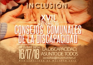 Afiche XVII Encuentro Nacional de Consejos Comunales de Discapacidad