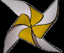 Logo de Integrados Chile - Remolino amarillo