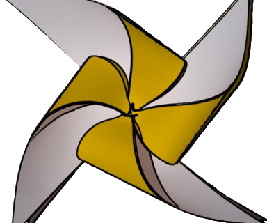 Remolino amarillo, logo de Integrados Chile