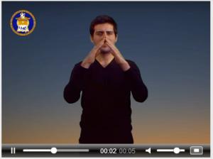 Captura de pantalla video del Diccionario Bilingüe Lengua de Señas Chilena – Español