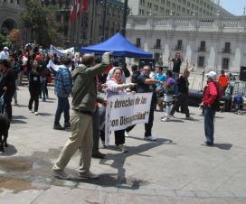 Llegada a la marcha a la Plaza de la Constitución / © Integrados Chile