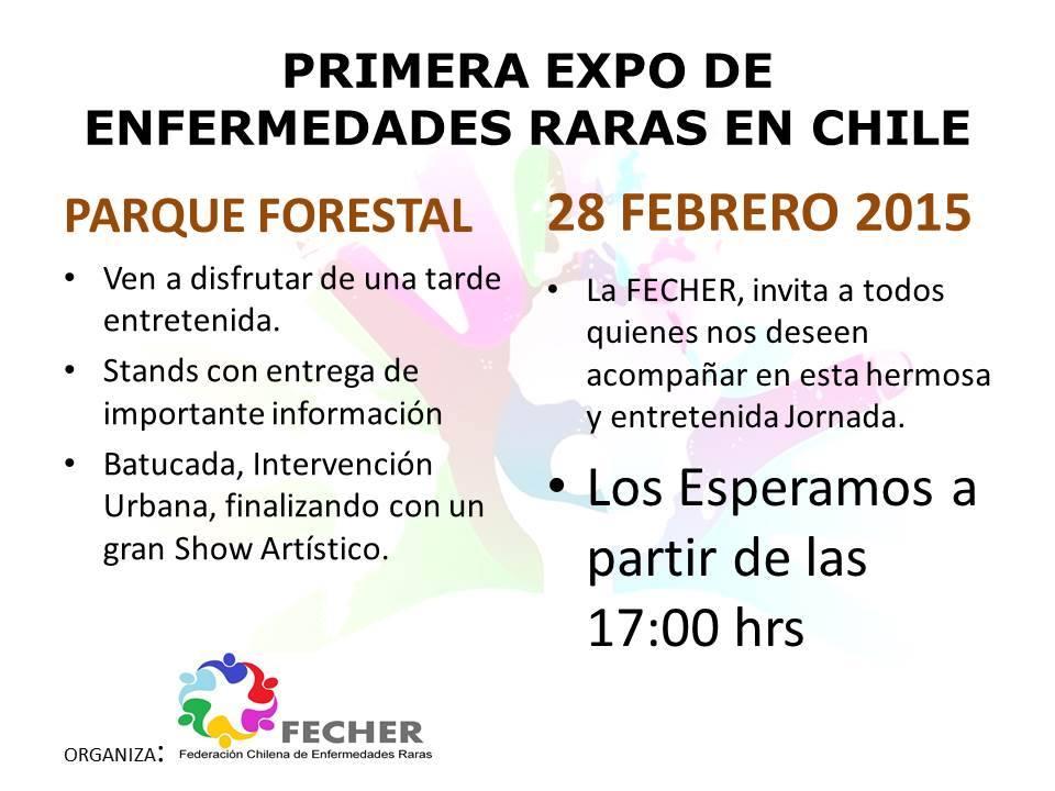 Información sobre Expo de las Enfermedades Raras 2015 de Fecher