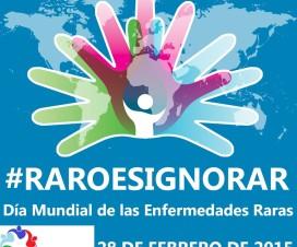 Afiche Día de las Enfermedades Raras 2015 de Fecher