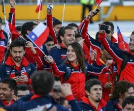 Delegación chilena desfilando en inauguración de Toronto 2015 - Fuente: Comité Paralímpico de Chile