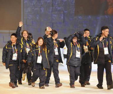 Delegación chilena en ceremonia inaugural de Los Ángeles 2015 Fuente: Olimpiadas Especiales
