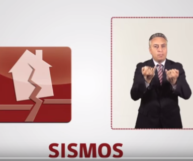 Captura de pantalla de video sobre sismos.