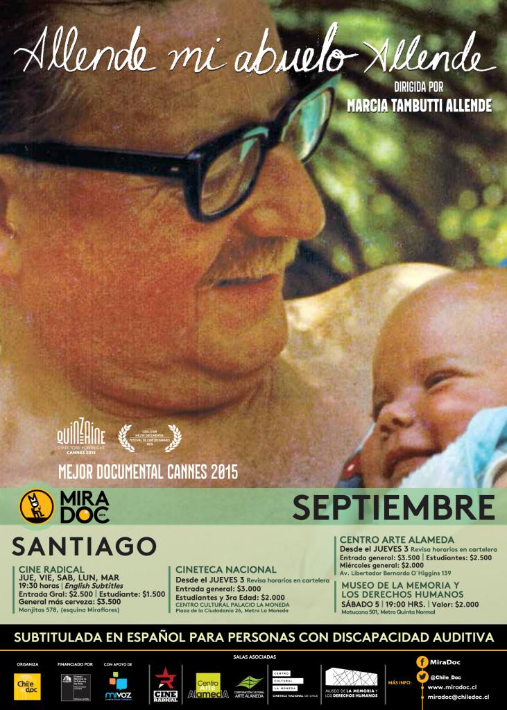 """Afiche de documental """"Allende mi abuelo Allende"""" - Fuente: ChileDoc"""