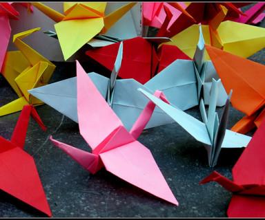Grullas de papel - Fuente: Flickr Martius