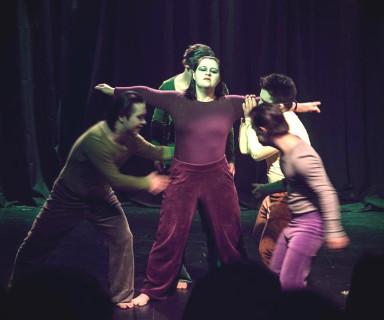 Actores en representación de obra Unsale - Fuente: Un Mundo Inclusivo