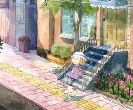 Ilustración de Chico y Gogo, personajes de Out of sight