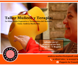 Afiche sobre taller Muñeco y Terapia