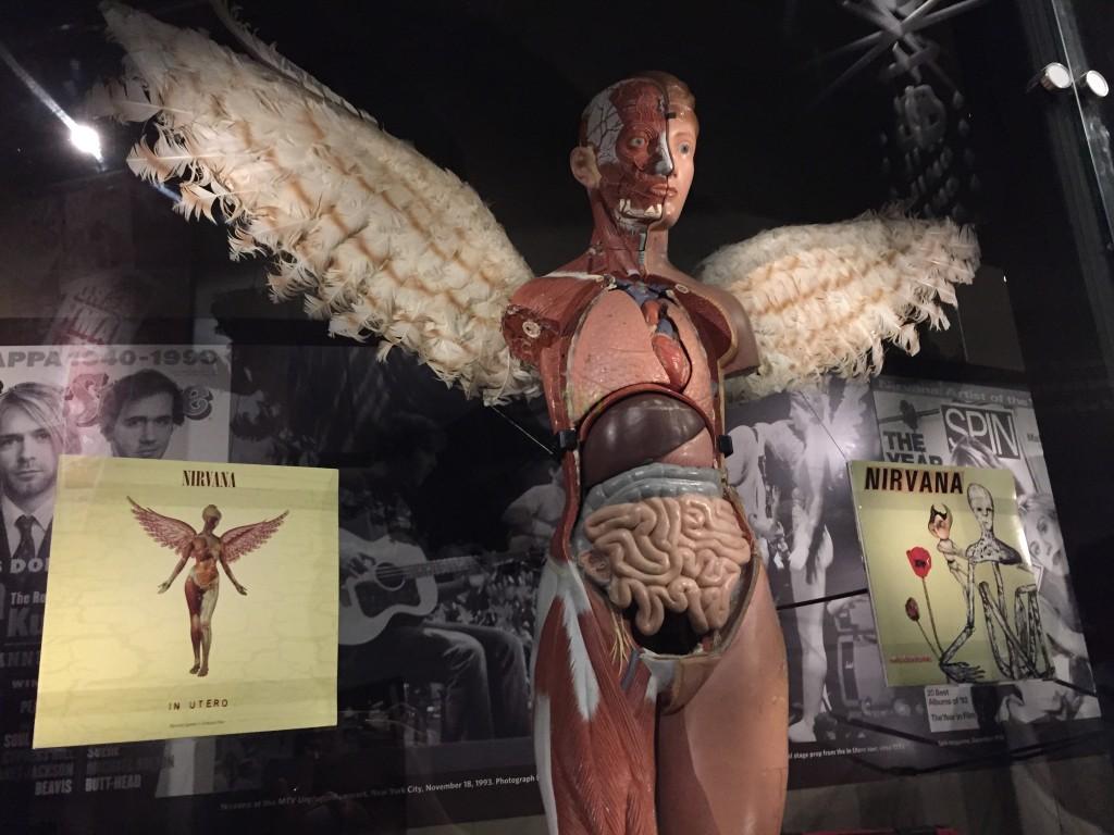 Exhibición de Nirvana en el Museo de la Música en Seattle