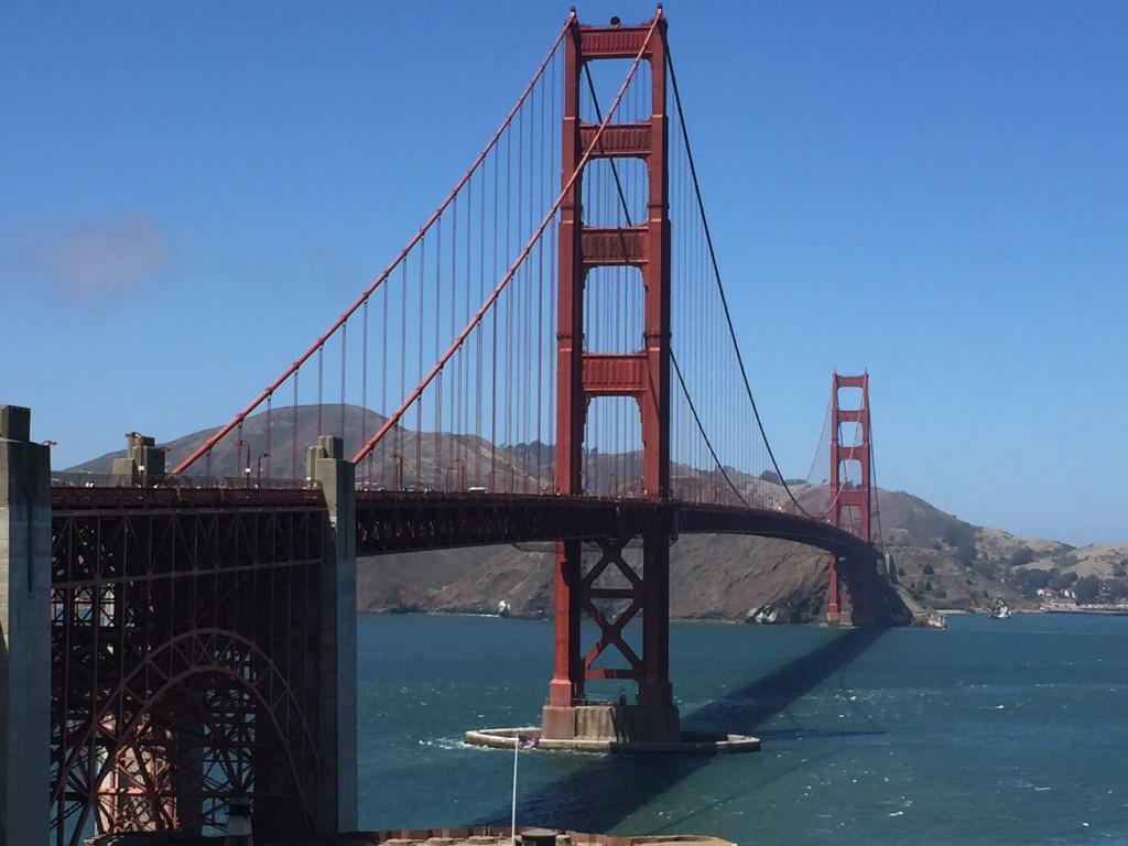 Vista del puente Golden Gate en San Francisco