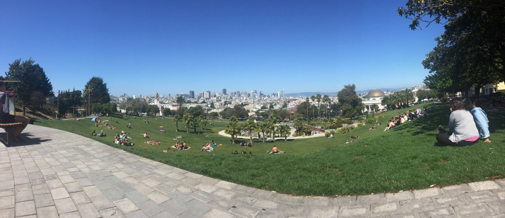 Vista de San Francisco desde el parque Dolores