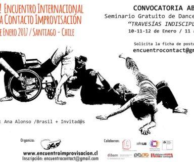 Afiche Encuentro Danza Contacto Improvisacion