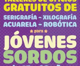 Afiche de Taller de Oficios para Jóvenes Sordos