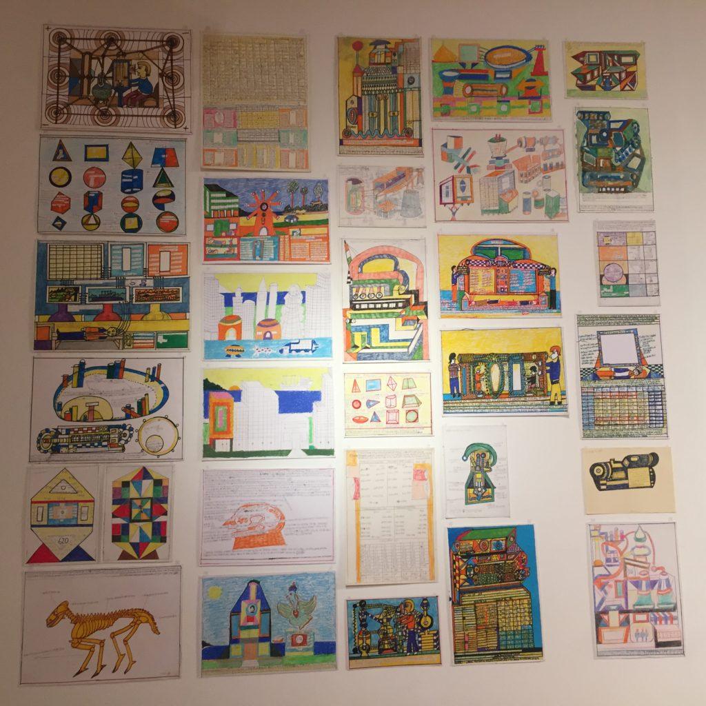 Grupo de obras de la exposición