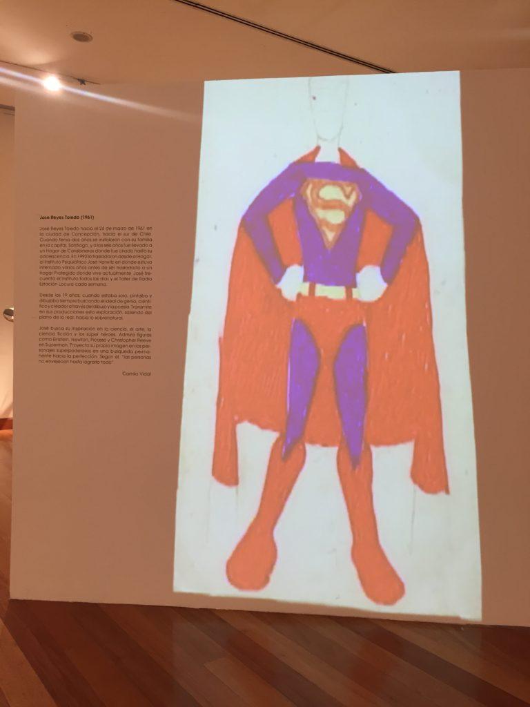 Proyección de cuadro de superman