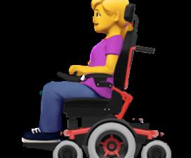 Emoji de Mujer en silla de ruedas eléctricas