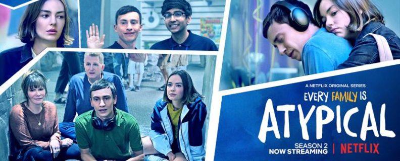Afiche de Atypical con imágenes de los cinco protagonistas - Fuente: Netflix